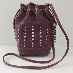 Danier Leather Crossbody Bucket Bag